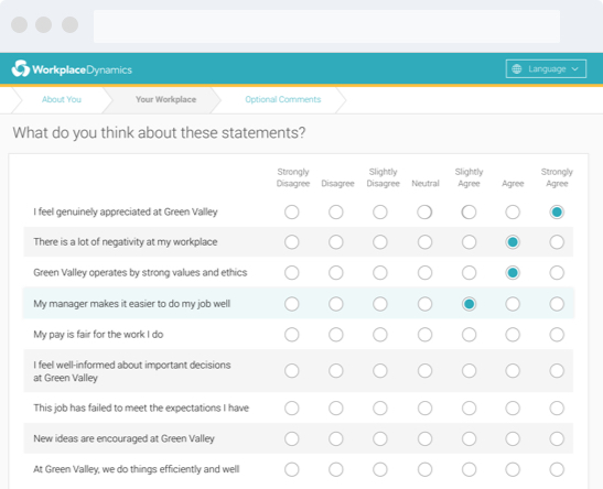 Workplace Survey By Workplacedynamics Engagement Platform